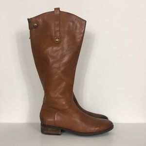Sam Edelman Tan Leather Penny Riding Boots